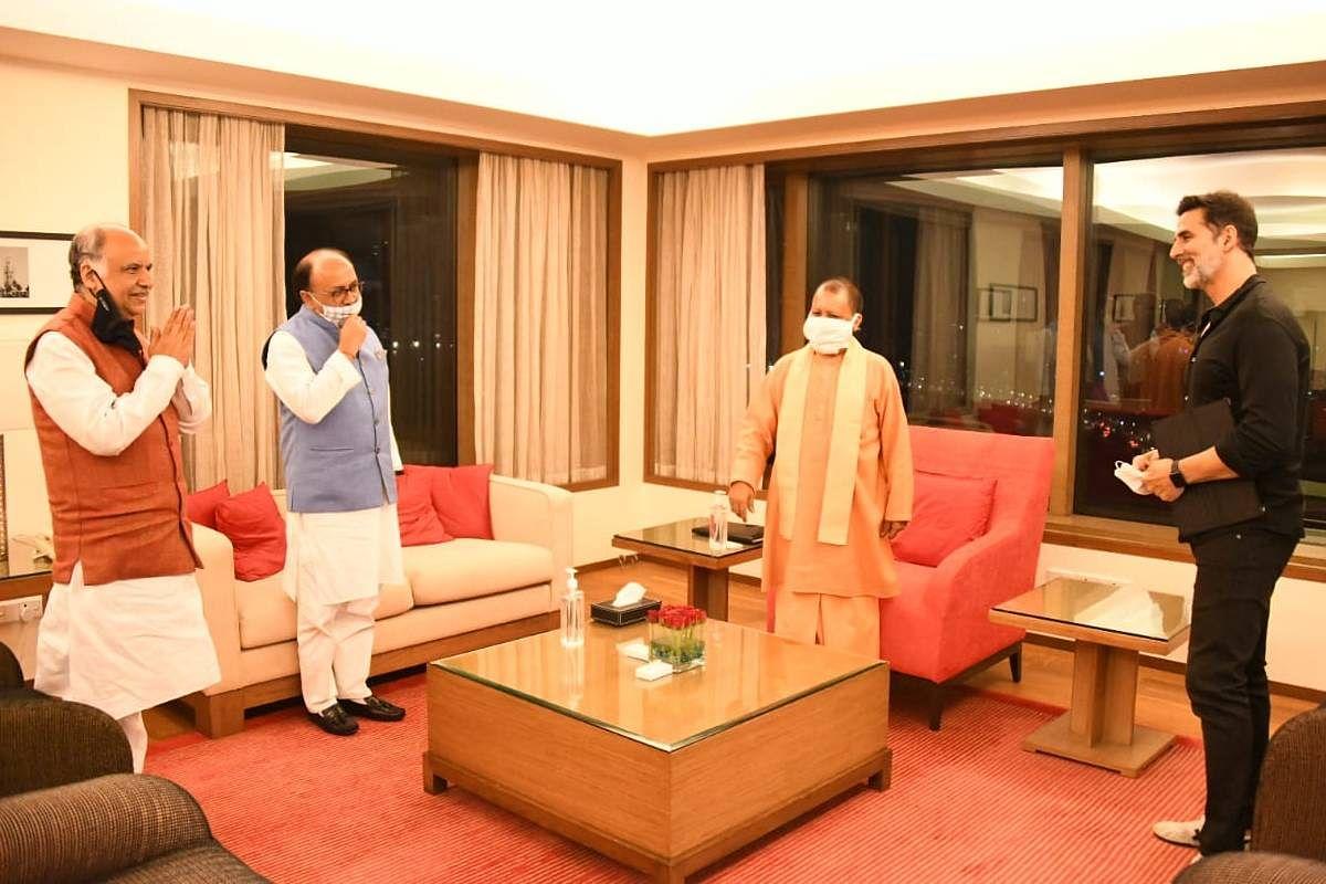 UP CM Yogi met Bollywood actor Akshay Kumar