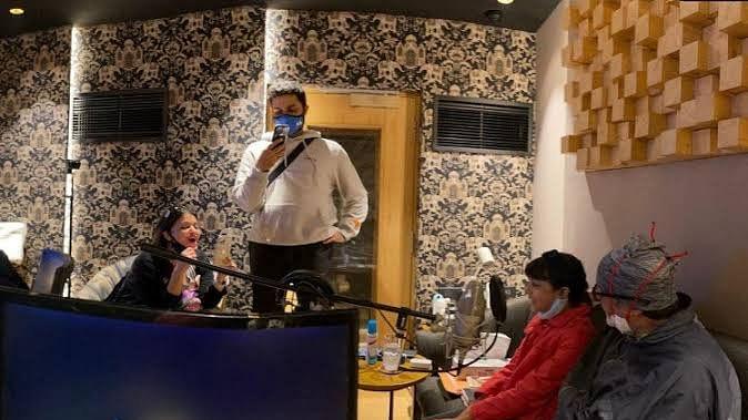 अमिताभ बच्चन ने आराध्या के साथ रिकॉर्ड किया म्यूजिक वीडियो, शेयर किया फोटो
