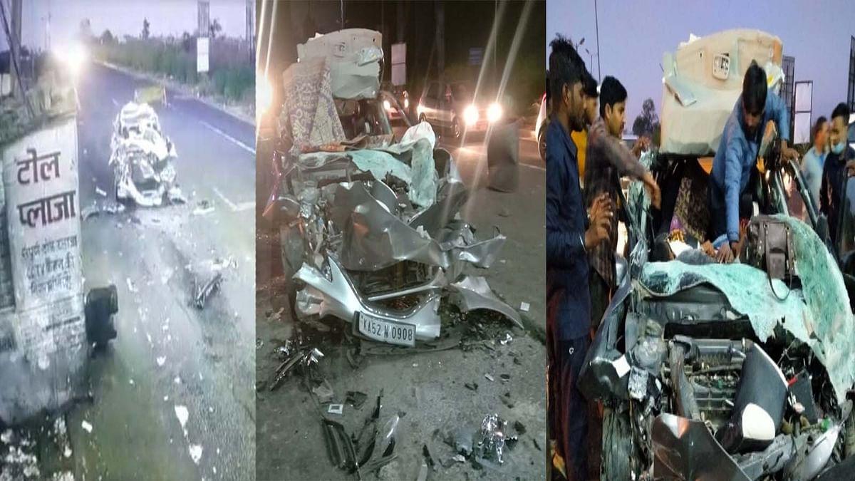 सिवनी में भीषण हादसा: टैंकर में जा घुसी तेज रफ्तार कार, हादसे में 5 की मौत