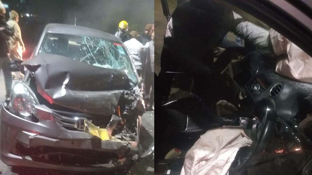 भोपाल में फिर हुआ सड़क हादसा: न्यू जेल रोड पर आपस मे भिड़ी दो कारें