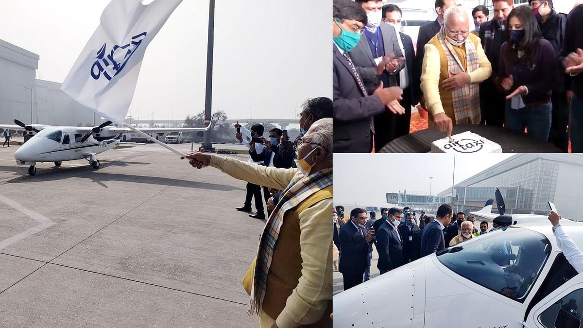 हवा में उड़ती नजर आएंगी एयर टैक्सी, हरियाणा CM ने किया नई सर्विस का उद्घाटन