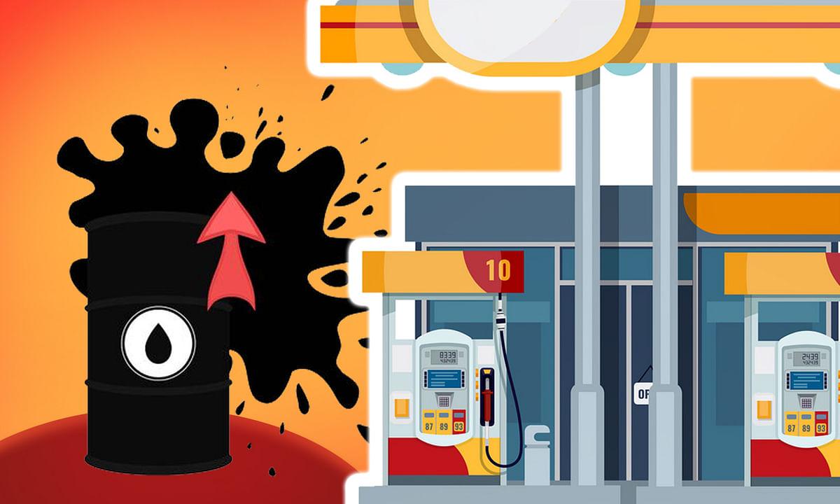 अंतरराष्ट्रीय बाजार में अमेरिकी रूख से कच्चे तेल में उबाल, भारत में लगातार चौथे दिन बढ़े दाम