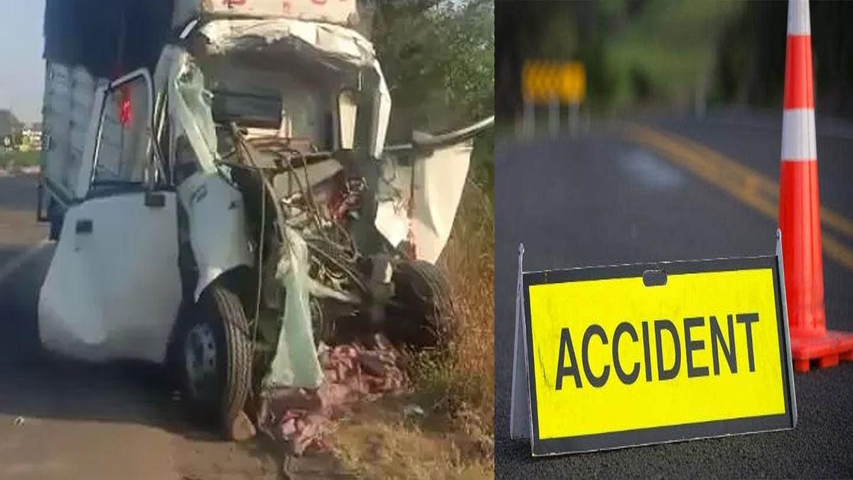 जबलपुर में सड़क हादसा: पेट्रोल पंप के समीप ट्रक और कार की हुई जोरदार टक्कर