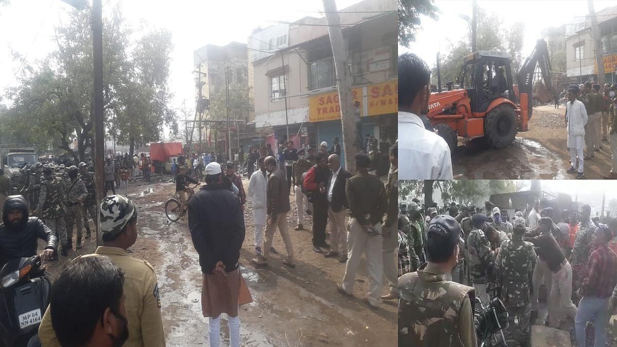 करोंद क्षेत्र में नगर निगम का चला बुलडोजर, अतिक्रमण के खिलाफ बड़ी कार्रवाई