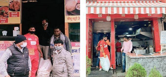 निगम ने होटलों में मारा छापा : चिकन तंदूर से लेकर चिकन मसाला जब्त किया