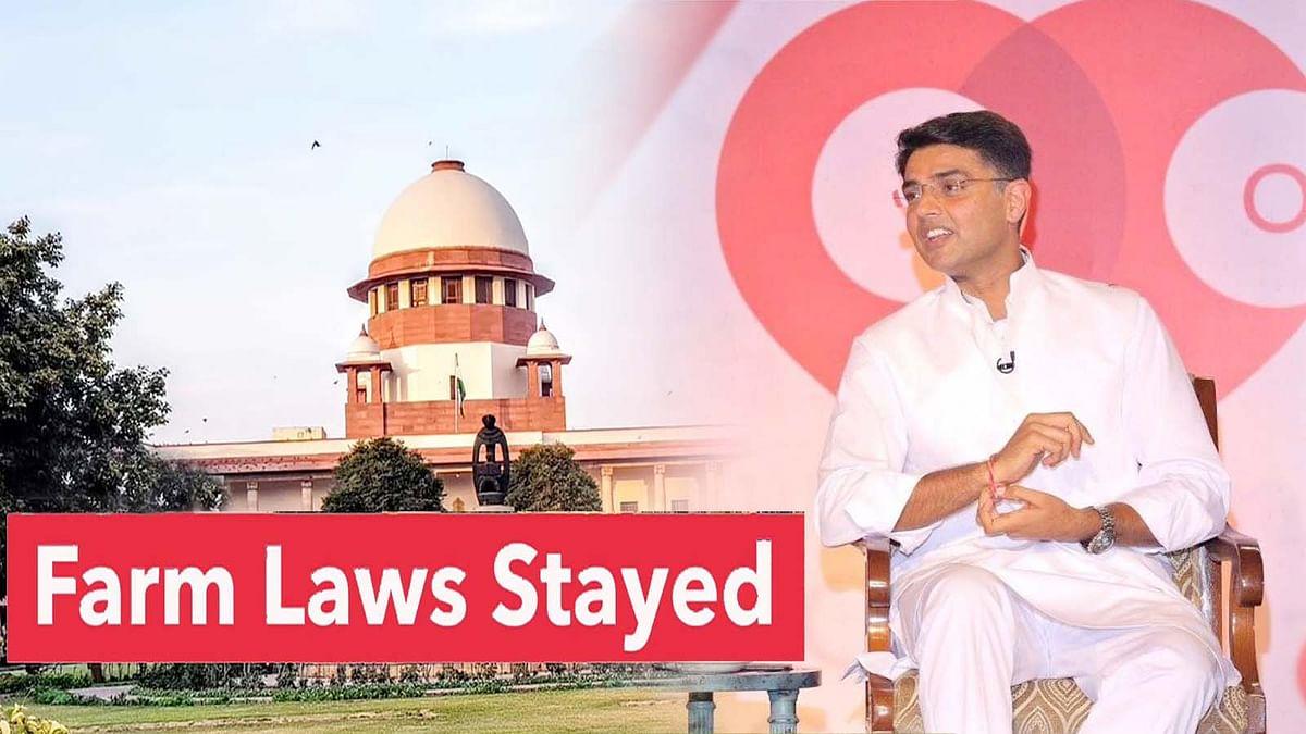SC ने कृषि कानून पर स्टे लगाकर BJP के कुचक्र को ध्वस्त कर दिया: सचिन पायलट