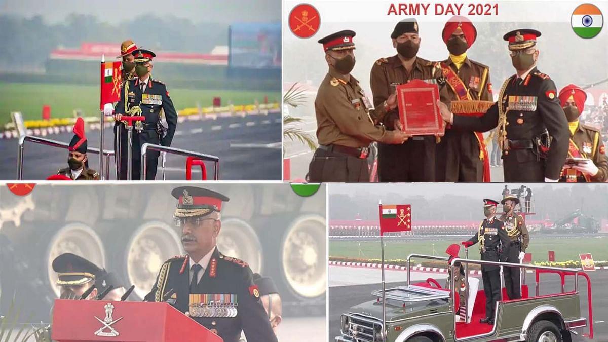 दिल्ली: सेना दिवस समारोह में आर्मी चीफ नरवणे का चीन-पाकिस्तान को कड़ा संदेश