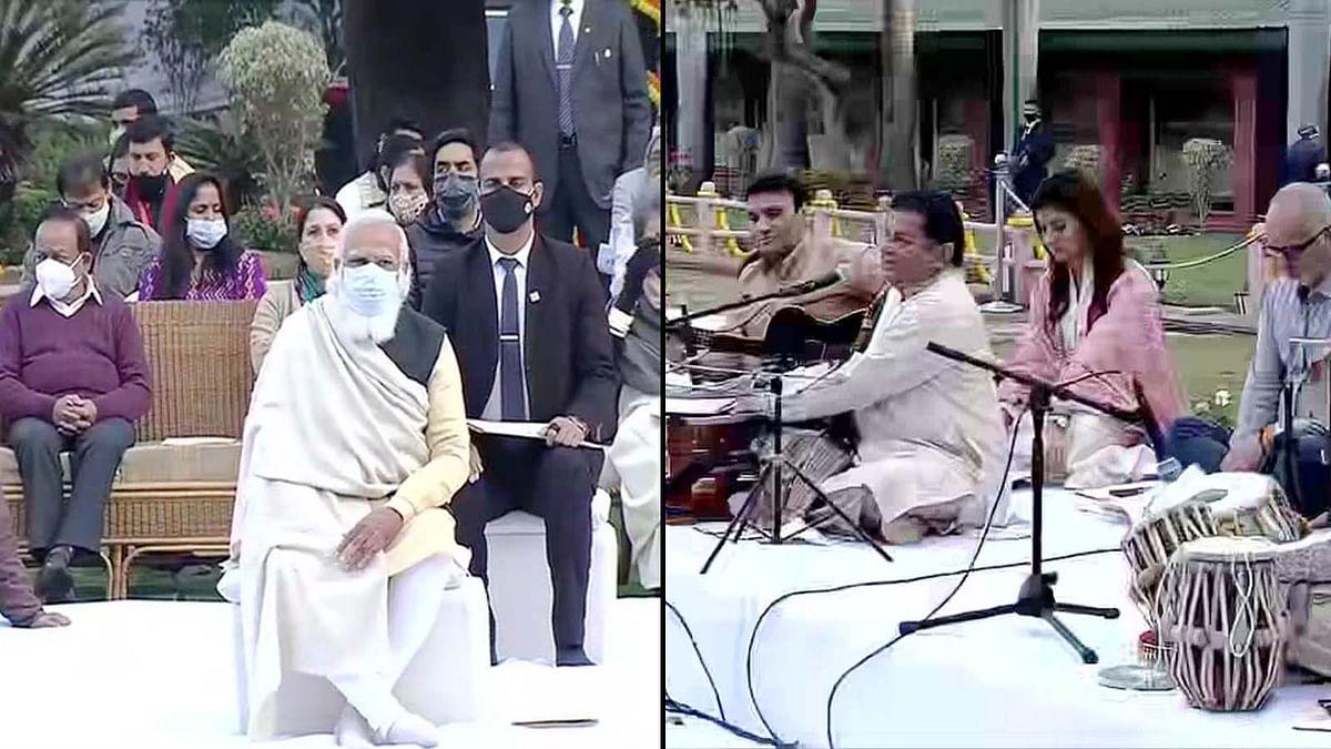 PM मोदी ने प्रार्थना सभा में लिया भाग