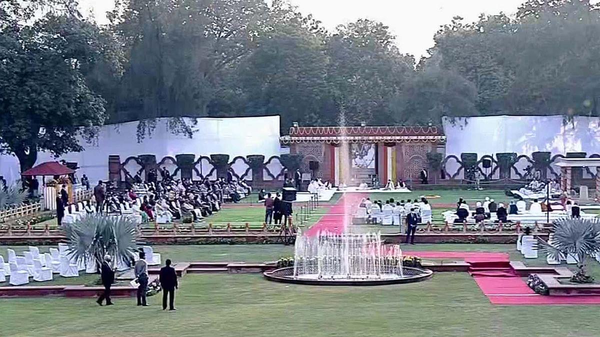 दिल्ली: PM मोदी गांधी स्मृति पहुंचकर प्रार्थना सभा में हुए शामिल