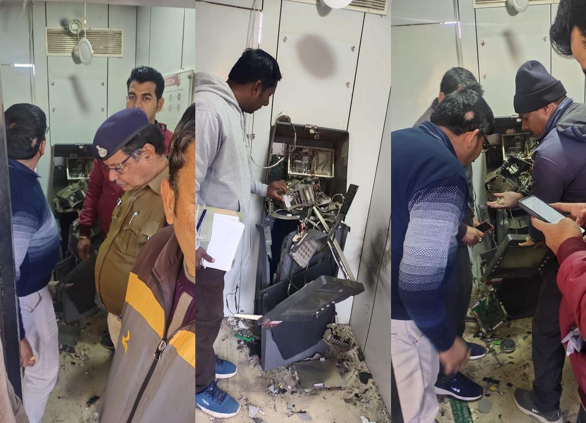 बिरसिंहपुर : एटीएम में ब्लास्ट कर बदमाशों ने दिया लूट की वारदात को अंजाम