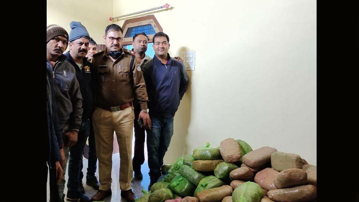 सागर: पुलिस ने डेढ़ क्विंटल गांजे की बड़ी खेप की बरामद, तीन आरोपी गिरफ्तार
