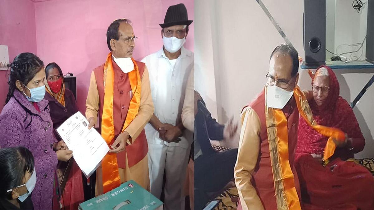 नए साल के पहले दिन सीएम पहुंचे इंदौर के पंचशील नगर, गरीब बन्धुओं से की भेंट