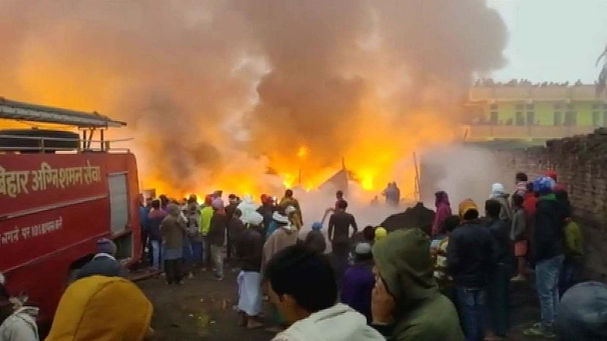 बिहार: पटना के दीदारगंज इलाके में स्क्रैप गोदाम में आग के तांडव से हड़कंप
