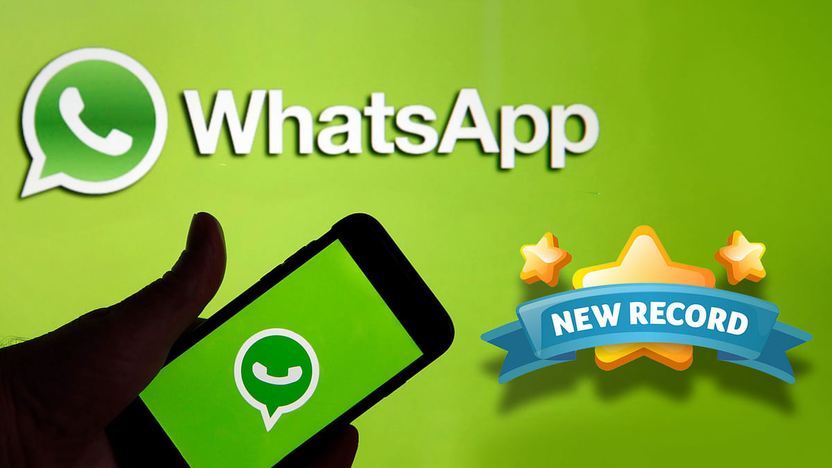 WhatsApp created new record of calling