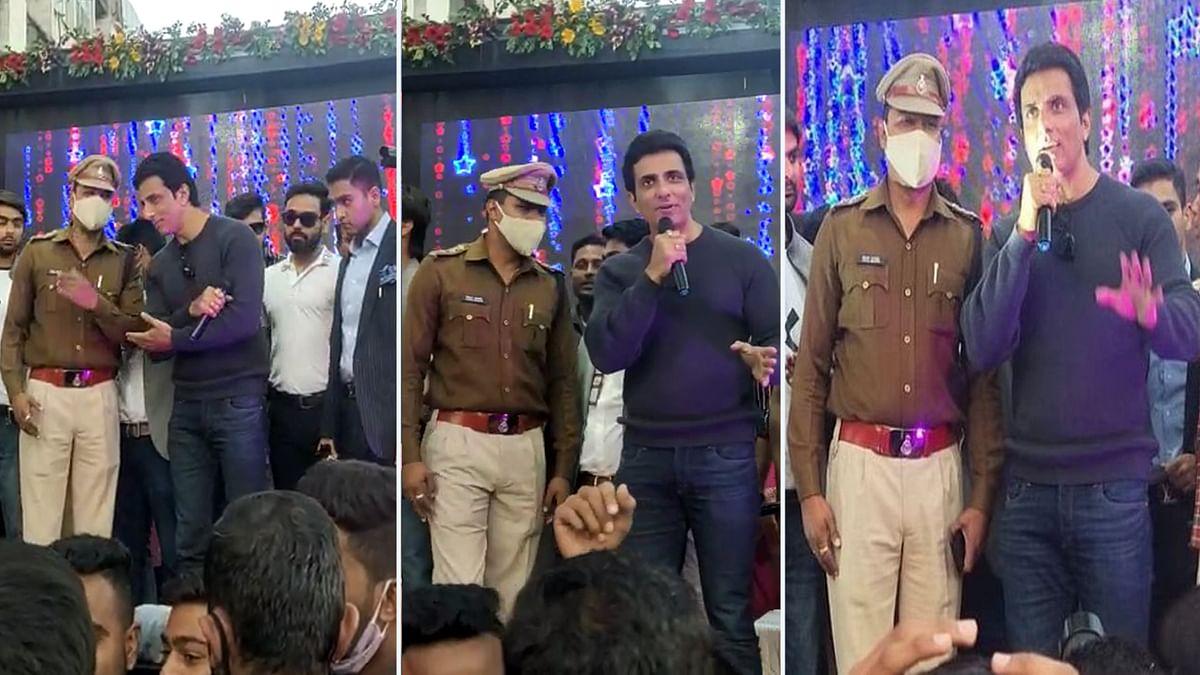 भोपाल में फिल्म अभिनेता सोनू सूद ने की ट्रैफिक नियमों के पालन करने की अपील