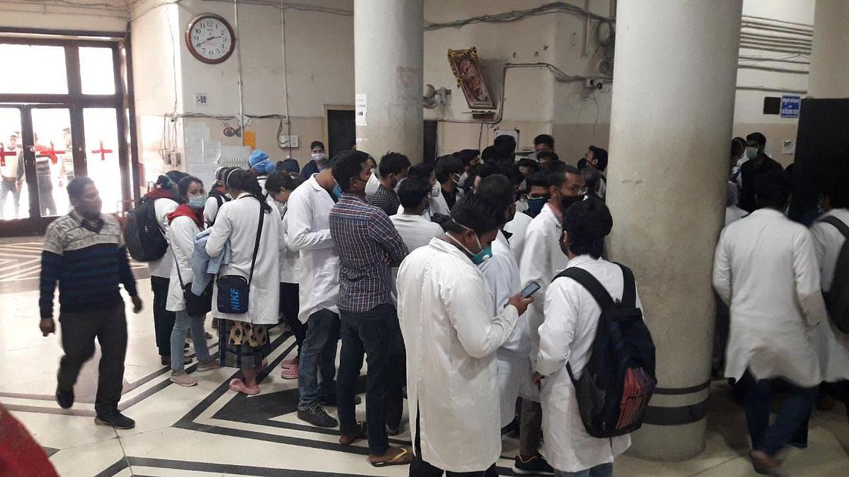 अस्पताल में डॉक्टर के साथ मारपीट, MYH में जूनियर डॉक्टरों ने की हड़ताल