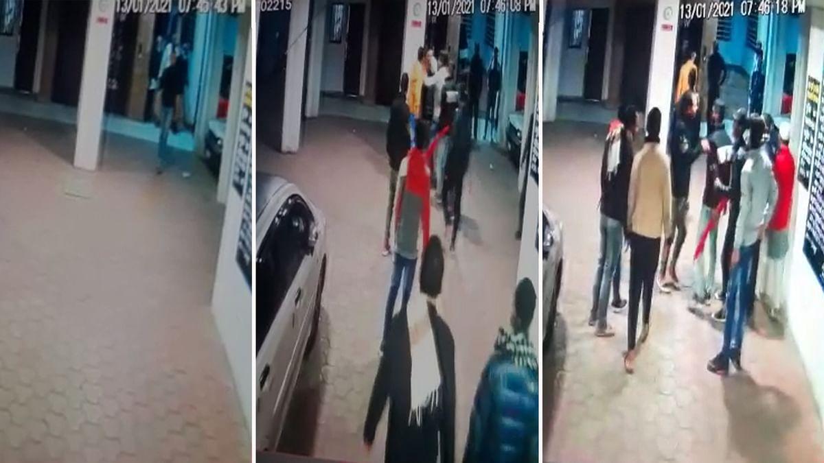 भोपाल: आयशा अपार्टमेंट में सरेआम चली तलवारें, पूरी घटना CCTV कैमरे में कैद
