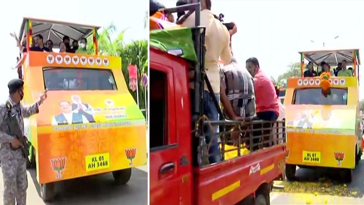 केरल के 2 दिवसीय दौरे पर जे.पी. नड्डा-तिरुवनंतपुरम में किया रोड शो
