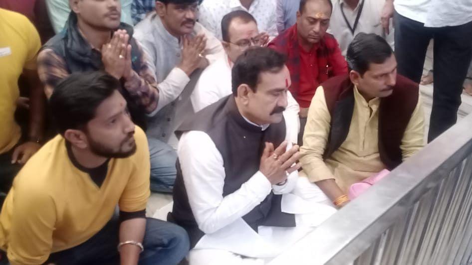 उज्जैन दौरे पर पहुँचे मंत्री मिश्रा, महाकाल के दर्शन कर लिया आशीर्वाद