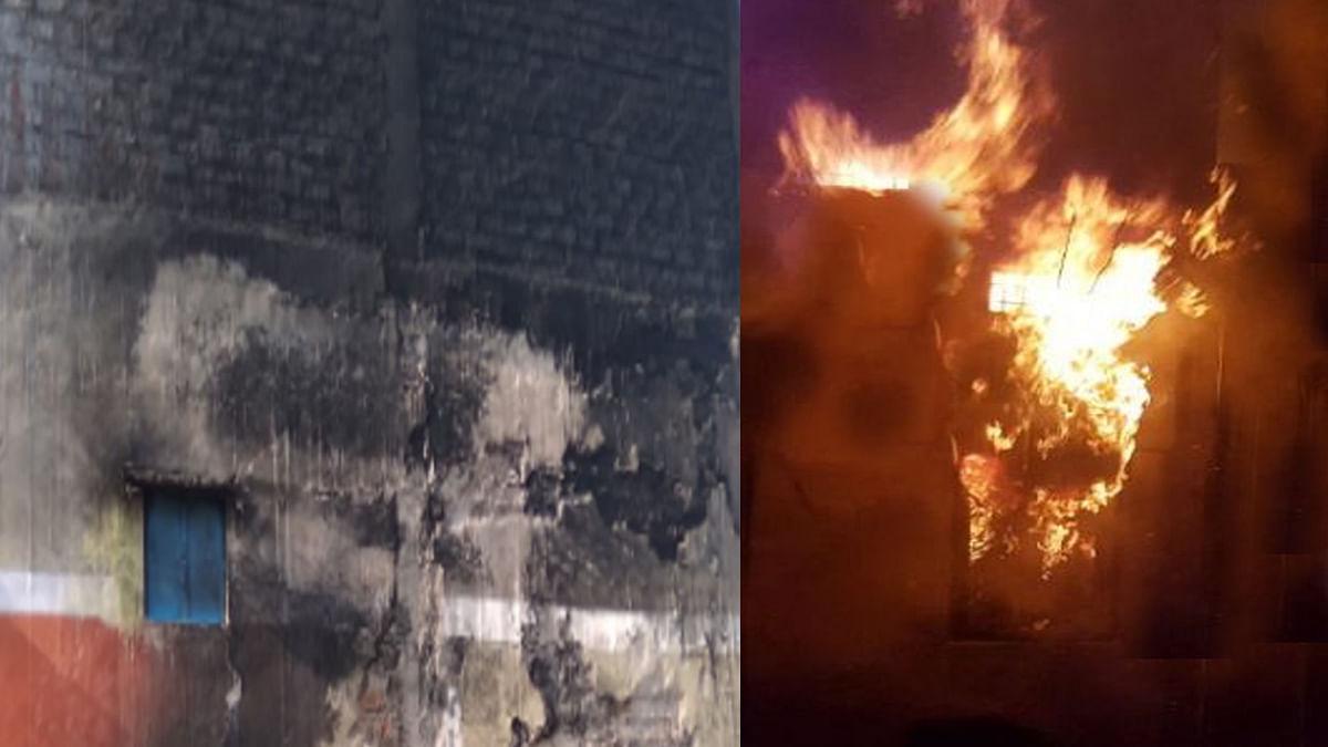 भोपाल: कबाड़ के गोदाम में लगी भीषण आग, लोगों को सांस लेने में हुई दिक्कत