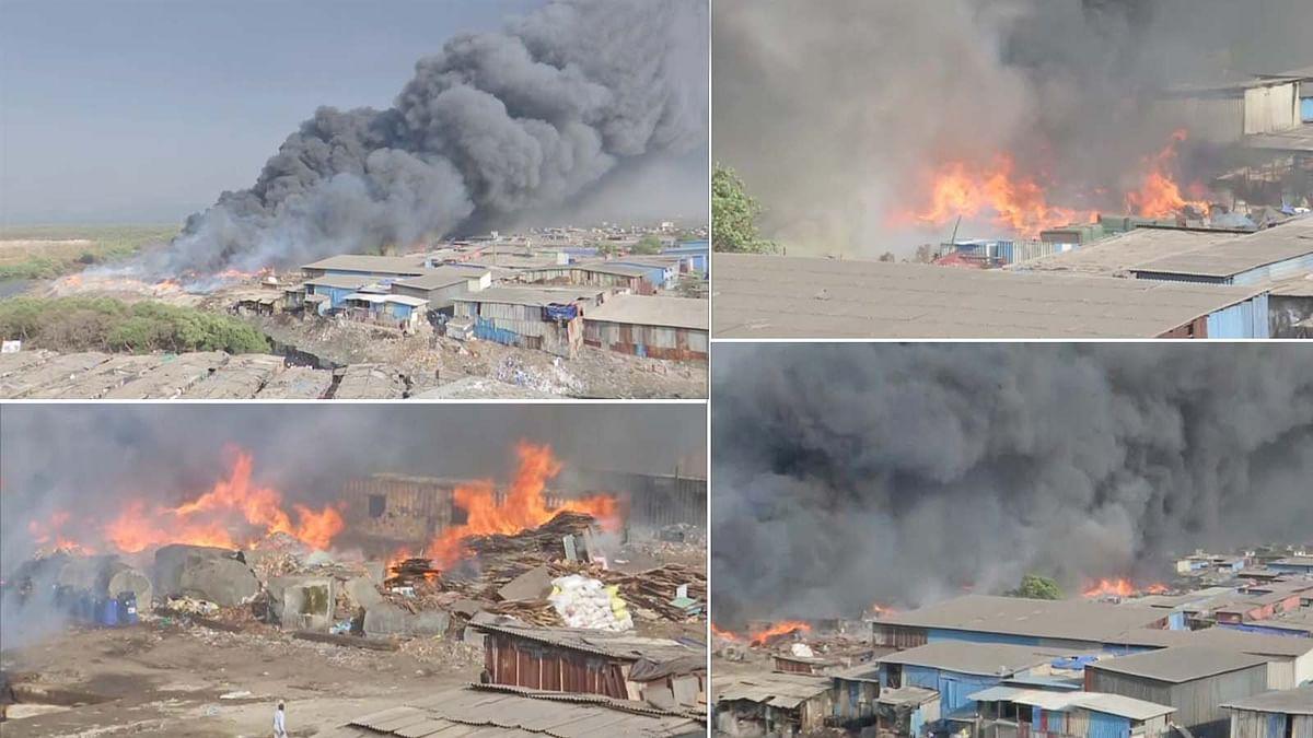 महाराष्ट्र: मुंबई के मानखुर्द में स्क्रैप गोदाम में भभकी आग ने मचाया तांडव