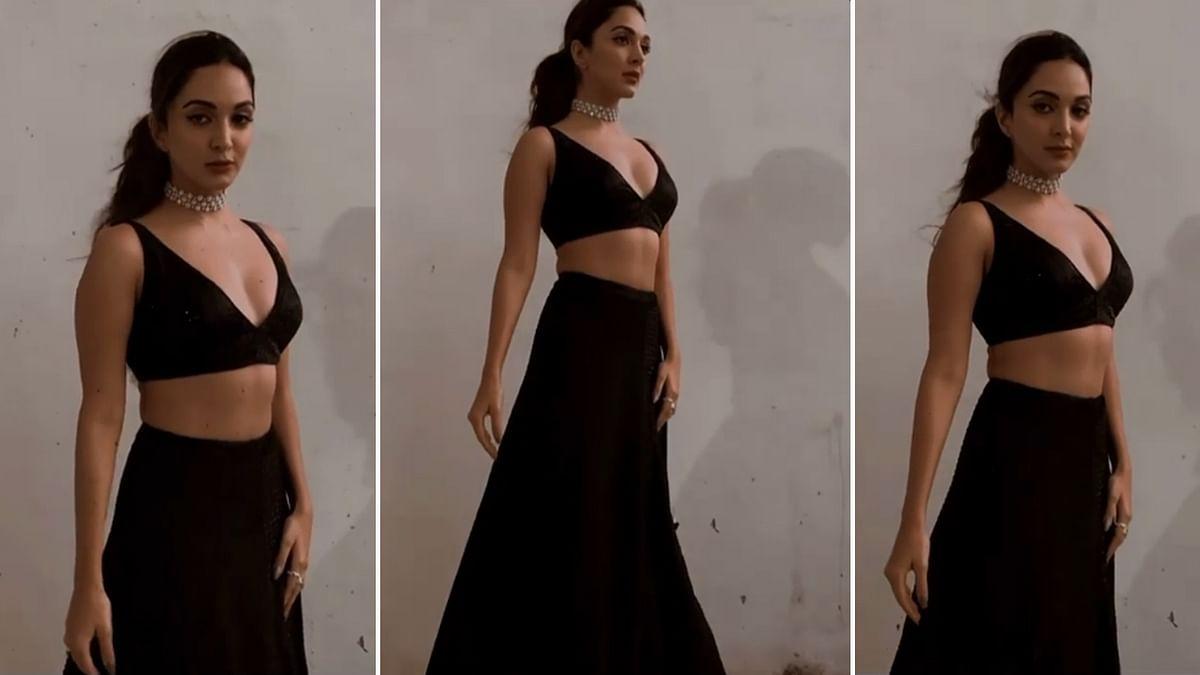 कियारा आडवाणी ने कराया ब्लैक ड्रेस में फोटोशूट, वायरल हुआ वीडियो