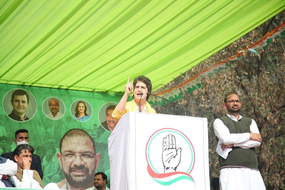 मुजफ्फरनगर किसान पंचायत में प्रियंका- किसानों की लड़ाई में दिया पूर्ण समर्थन