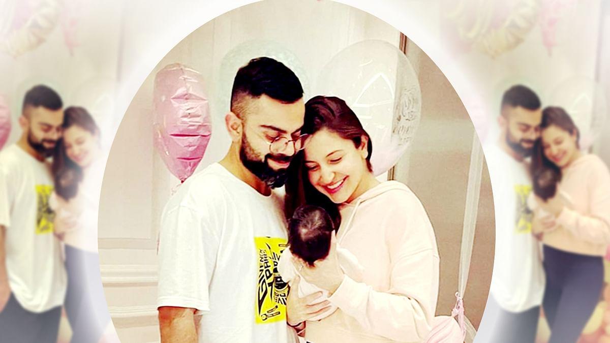 अनुष्का शर्मा ने शेयर की बेटी के साथ पहली फोटो, नाम से भी उठाया पर्दा