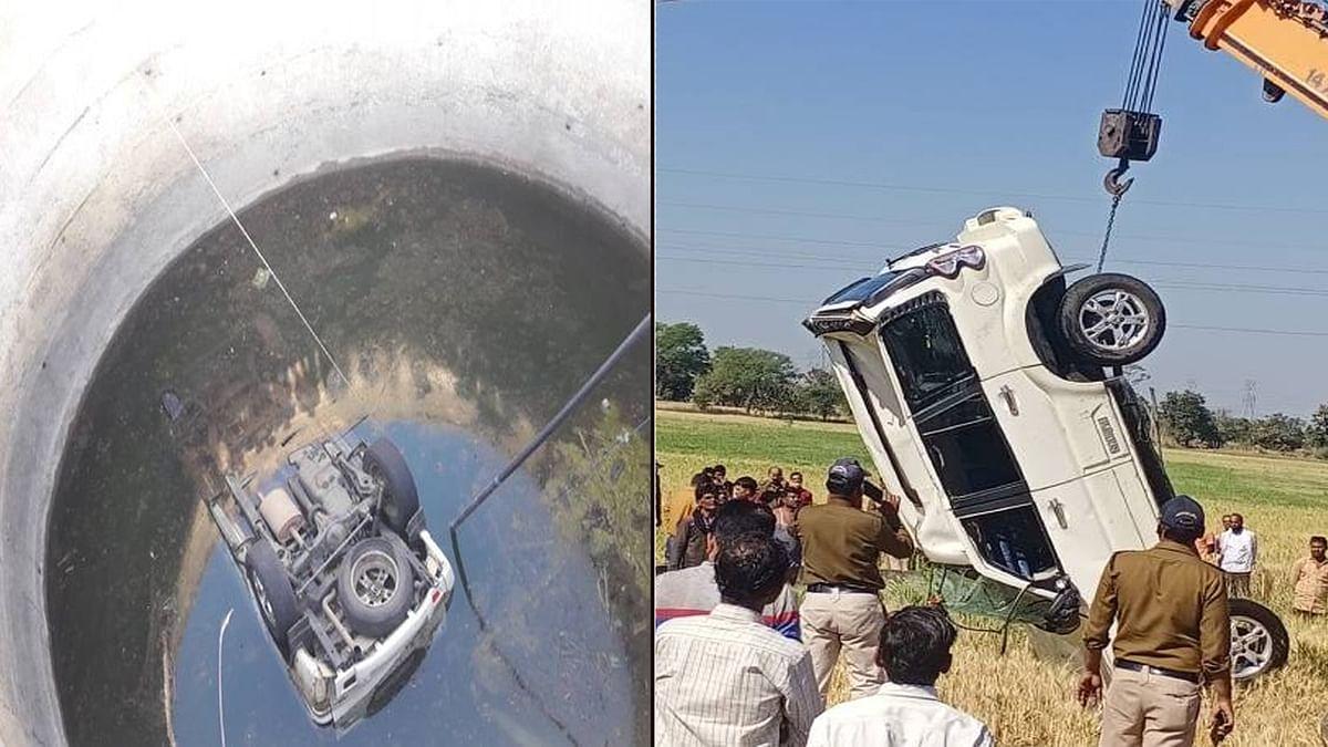 फिर बरपा तेज रफ्तार का कहर: कुएं में गिरा वाहन, TI और आरक्षक की दर्दनाक मौत