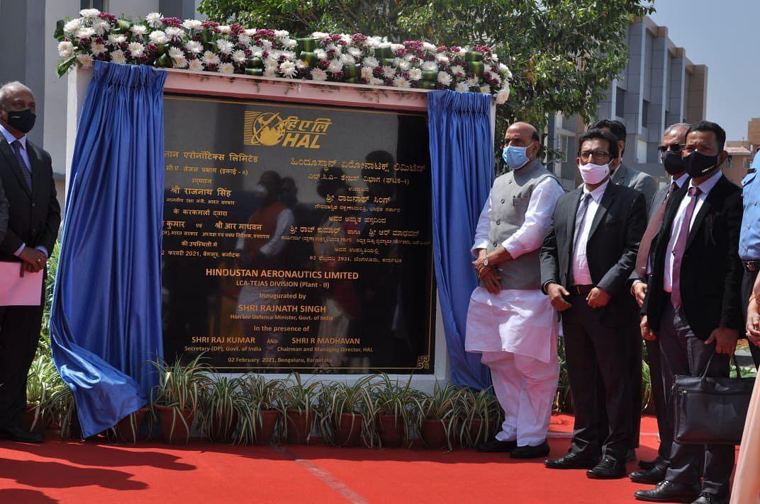 बेंगलुरु में रक्षा मंत्री ने किया LCA की दूसरी प्रोडक्शन लाइन का उद्घाटन