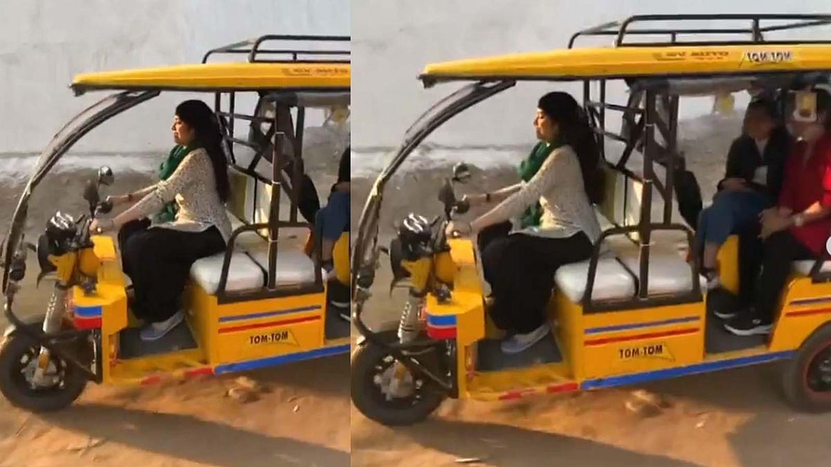 पंजाब की गलियों में ई रिक्शा चलाती दिखीं जाह्नवी कपूर, सामने आया वीडियो