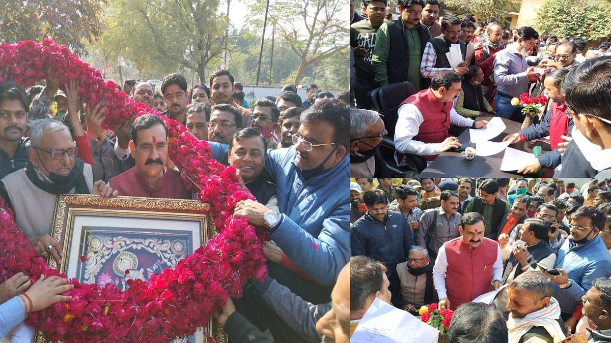 डॉ. नरोत्तम मिश्रा पहुंचे दतिया, स्थानीय नागरिकों से मुलाकात कर दिए निर्देश