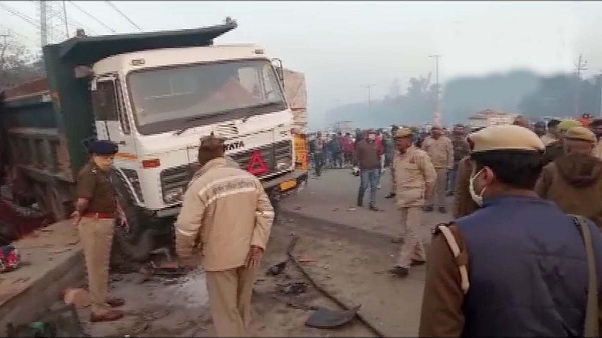 UP: बुलंदशहर रोड हादसे से किसान आंदोलन में ड्यूटी पर तैनात 2 जवानों की मौत