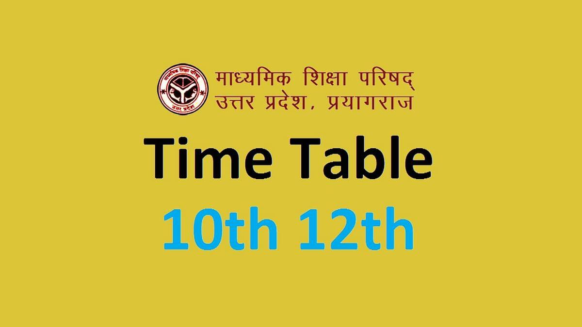 UP Board Exam 2021: यूपी में 10वीं-12वीं के एग्जाम का टाइम टेबल आ गया