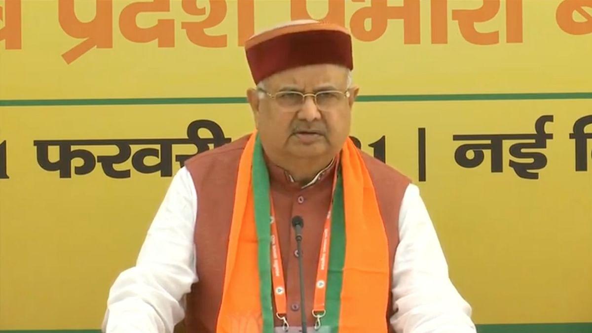 दिल्ली एनडीएमसी सेंटर में BJP की अहम बैठक के बाद रमन सिंह की प्रेस वार्ता