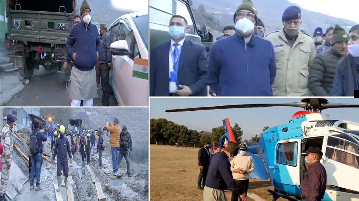 उत्तराखंड के CM रावत राहत व बचाव कार्यों का जायजा लेने जोशीमठ पहुंचे