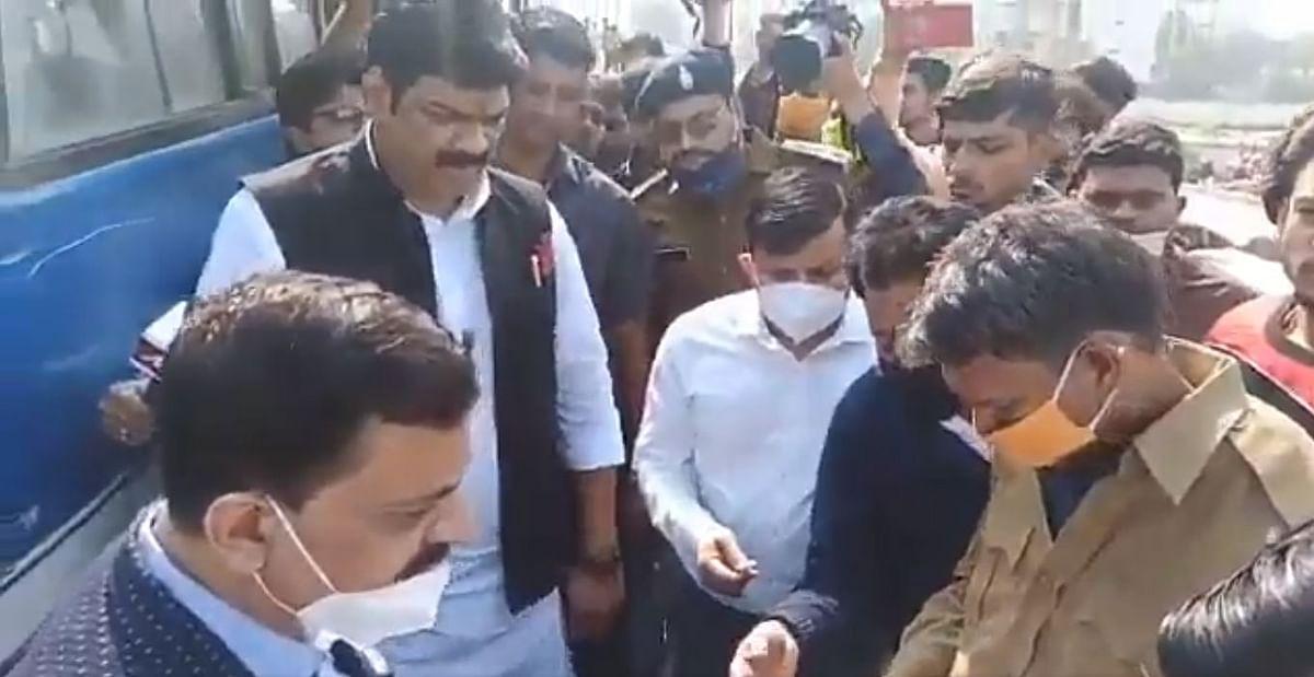 सीधी हादसे का असर-परिवहन मंत्री सीधी बस हादसे के बाद भोपाल की सड़कों पर उतरे