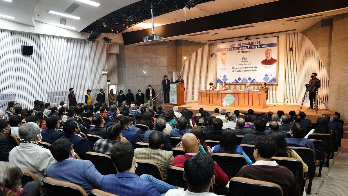 दिल्ली:निजी स्कूलों के प्रिंसिपल के साथ बातचीत में CM केजरीवाल का बड़ा ऐलान