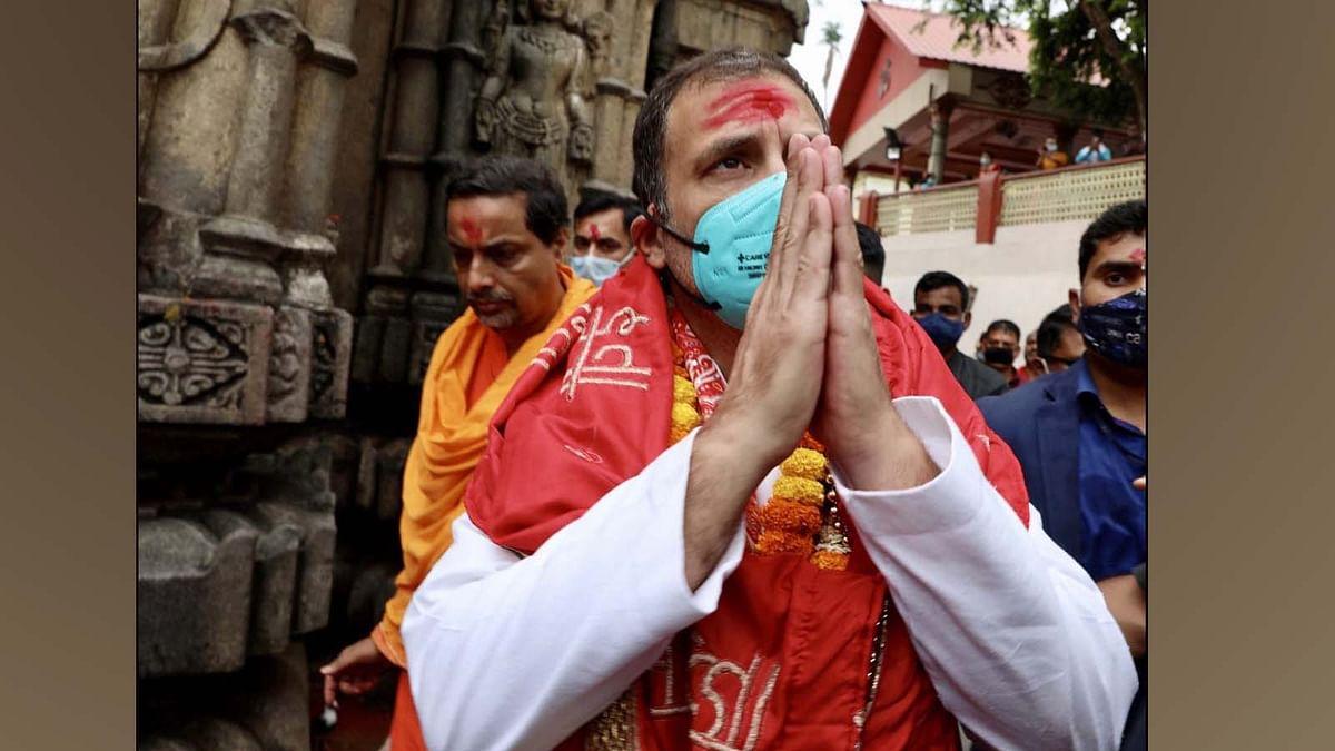 असम: कामाख्या मंदिर में पूजा कर राहुल गांधी ने किया ये बड़ा दावा