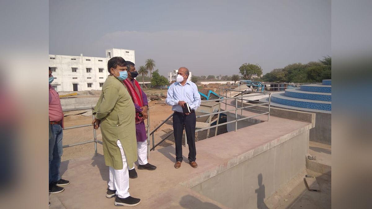 प्रदेश ऊर्जा मंत्री तोमर देखने पहुंचे वाटर ट्रीटमेंट प्लांट, दिए निर्देश