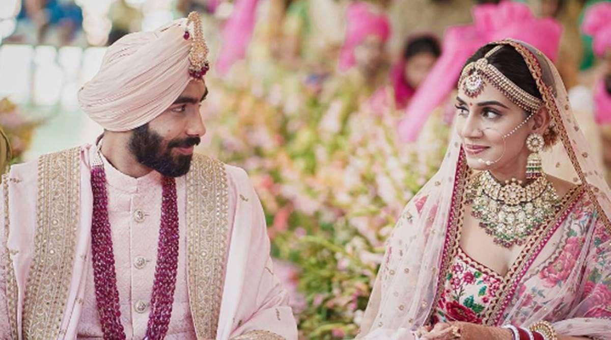 विवाह बंधन में बंधे जसप्रीत बुमराह, टीवी एंकर संजना से की शादी