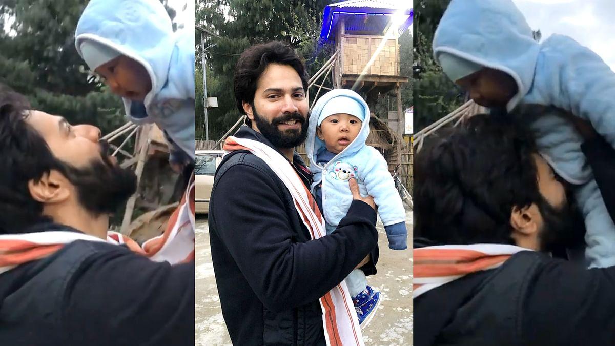 वरुण धवन ने शेयर किया अरुणाचल प्रदेश में एक बच्चे के साथ खेलते हुए वीडियो