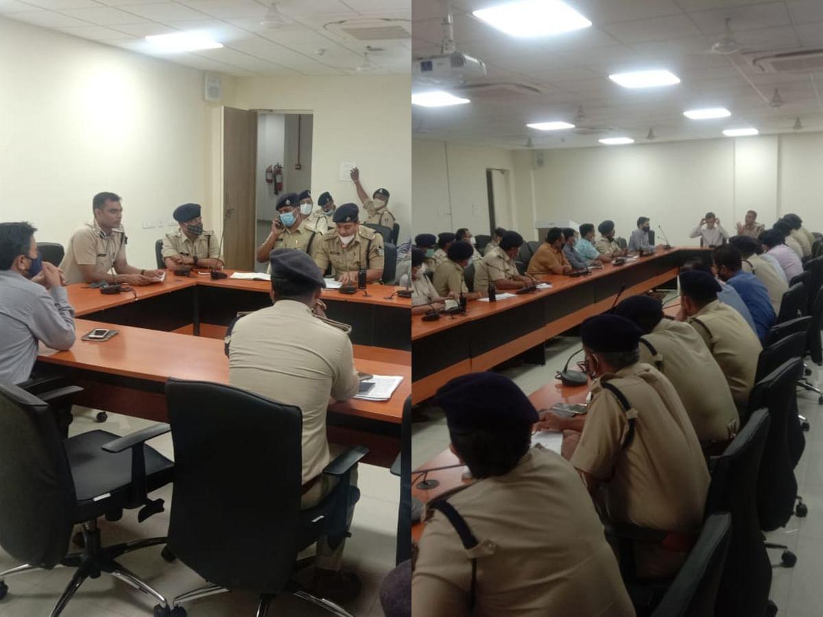 शहर में शांति व सुरक्षा व्यवस्था हेतु पुलिस व प्रशासनिक अधिकारियों की बैठक सम्पन्न