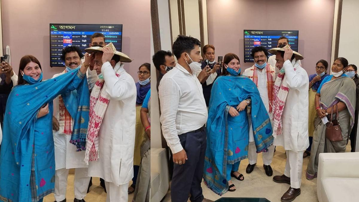 असम पहुंचे कमलनाथ, कांग्रेस के नेताओं ने स्थानीय परंपरा के अनुसार किया स्वागत