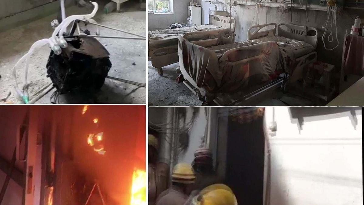 दिल्ली में पहले सफदरजंग अस्पताल, फिर एक कपड़े के गोदाम में भभकी भीषण आग