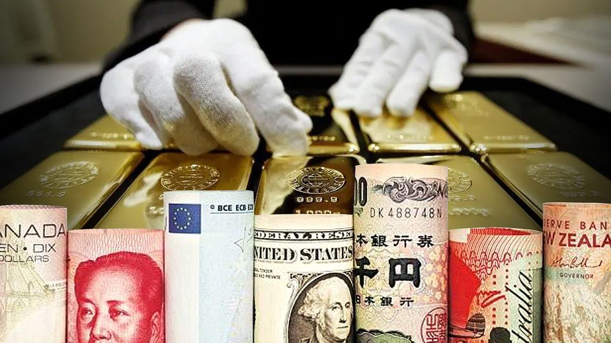इस बार भी विदेशी मुद्रा भंडार में गिरावट और स्वर्ण भंडार में दर्ज हुई बढ़त