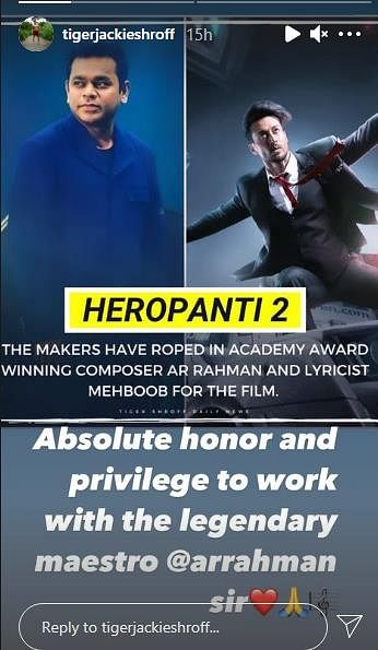 AR Rahman to compose music for tiger shroff film Heropanti 2