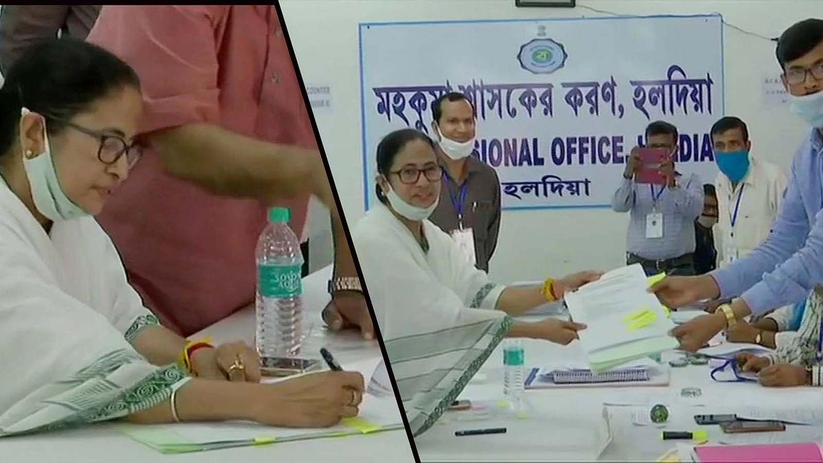 बंगाल में नंदीग्राम सीट से चुनाव लड़ेंगी CM ममता बनर्जी-नामांकन किया दाखिल