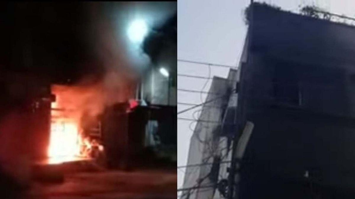 डॉक्टर के घर में लगी आग, परिवार के लोगों ने पड़ोसी की छत से कूदकर बचाई जान