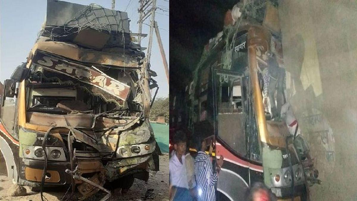 छतरपुर में सड़क हादसा: तेज रफ्तार बस ब्रिज की दीवार से टकराई- 2 की हुई मौत